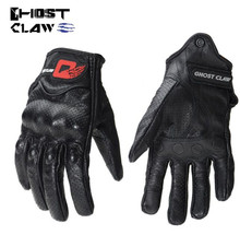 GHOST RACING  Motorcycle Off Road Gloves Leather Touch Screen Breathable Motocross Protection Guantes Moto motorcycle off road racing rider anti touch screen leather gloves