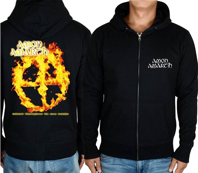 21 конструкции Амон рок молния хлопковые толстовки куртка sudadera панк тяжелый металл 3D череп флис Викинг Толстовка - Цвет: 11