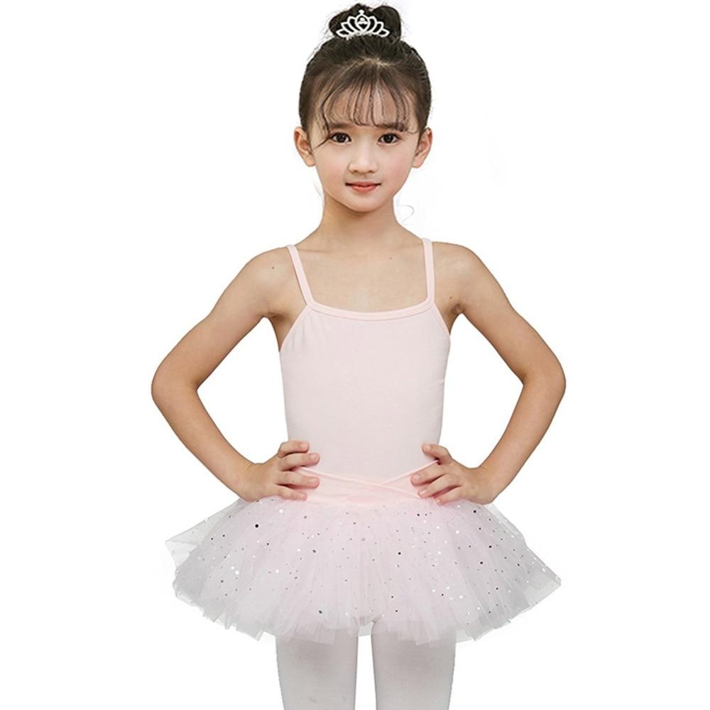 Girls Ballerina Sequined Dress Pink Tutu Dress Fairy Prom Party Costume Kids Child Dancewear Gymnastic Leotard Teen Ballet