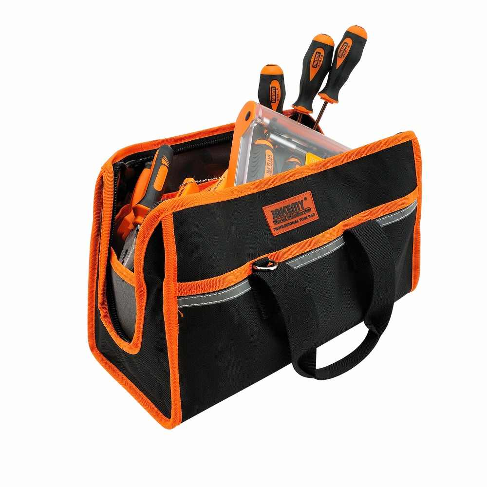JAKEMY Electrical Tool Bags Size 36*16*21cm Hand Tools Kit Professional Electrician Hardware Bag