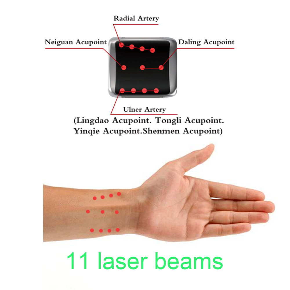 home laser therapy device wrist watch hypotension high blood pressure intranasal laser therapy blood pressure regulator laser acupuncture laser wrist watch laser treatment therapeutic instrument