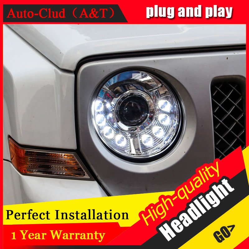 Auto Clud Car Styling For Jeep patriot headlights For patriot head lamp led DRL front Bi-Xenon Lens Double Beam HID KIT auto clud style led head lamp for benz w163 ml320 ml280 ml350 ml430 led headlights signal led drl hid bi xenon lens low beam