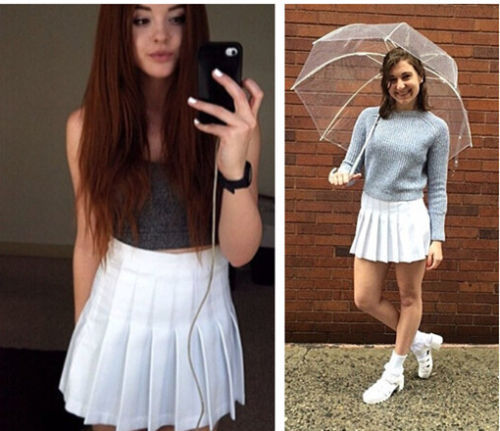 f242c4dad4 2014 American Apparel Street Fashion Lady high waist Ball tennis Pleated  Skirt XS-L white black red pink yellow