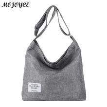 Корейские холщовые сумки на плечо для женщин, несимметричные сумки через плечо, Женская Повседневная сумка, женская сумка-мессенджер, сумки Bolsas Feminina