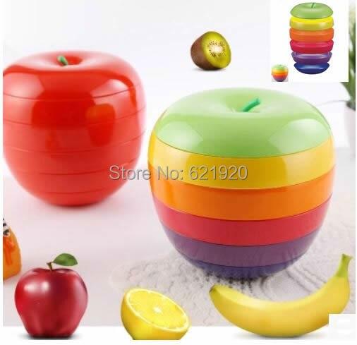 Хороший Apple коробка для хранения красивая коробка конфет Творчество может быть наложены коробка для хранения Модные Простые хранения фрукт... ...