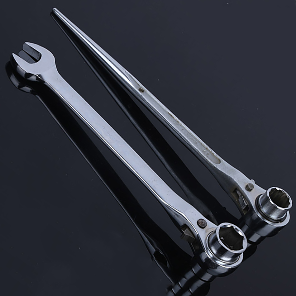 Six Angle Plum Blossom Pointed Tail Bidirectional Ratchet Multifunctional Socket Tool Ratchet Sleeve Wrench Set