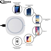 Qosea Wireless Charger Charge Dock Charger Charging Cradle Adapter For iPhone 8 X Plus Samsung Galaxy Note 8 S8 Wireless Charger