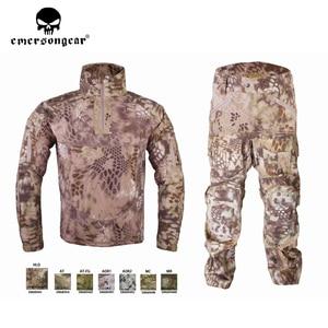 Image 4 - Emersongear męski strój kamuflażowy Tactical Sportwear wojskowy dres bojowy jesień i zima długi rękaw męskie garnitury sportowe