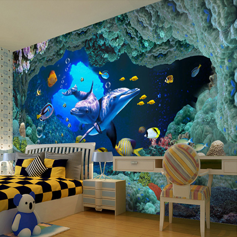 Custom 3D Photo Wallpaper Underwater World Wall Painting Wallpapers For Living Room Bedroom Children Room Mural Home Decoration