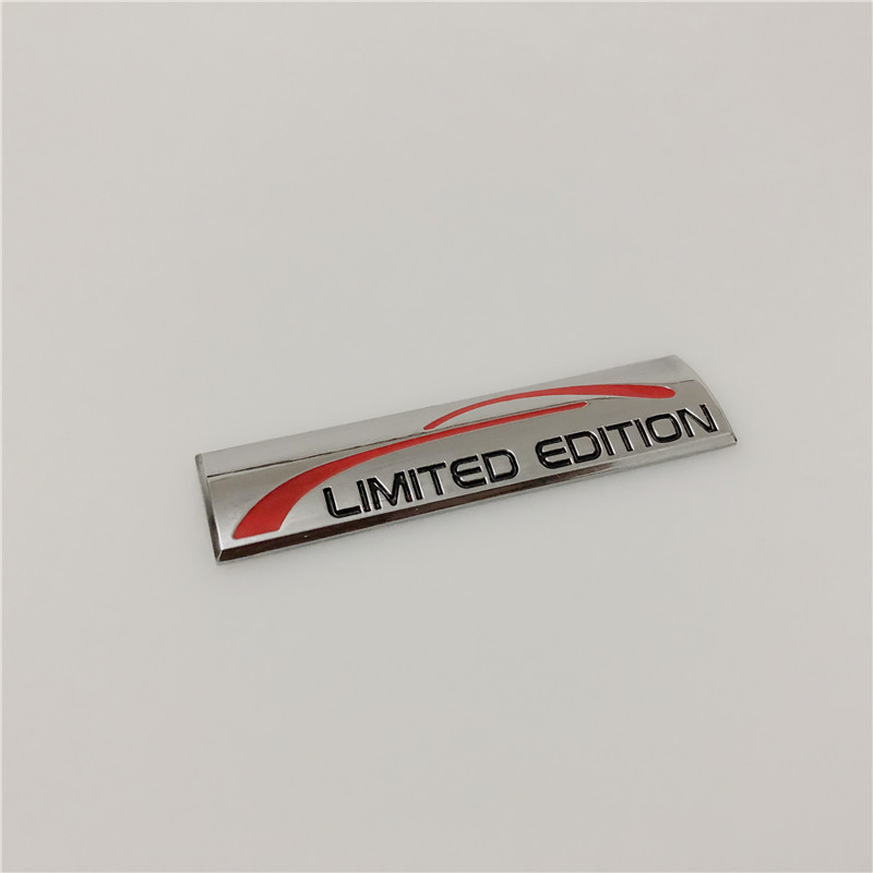 1 X 3D Red Limited Edition Logo Emblem Badge Metal Sticker Decal Car Accessories