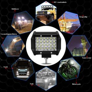 Image 2 - CROSSFOX Car 36W 60W reflektor roboczy 72W 120W LED 240W 300W Auto robocza listwa oświetleniowa na motocykl terenowy 4x4 poziomy ciągnik światło do łodzi