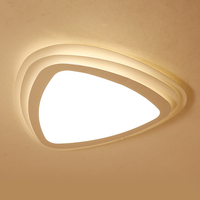 LICAN Ultrathin Triangle LED Luminarines Bedroom Ceiling Lights Remote Controls Round Dimming LED Home Ceiling Lamp