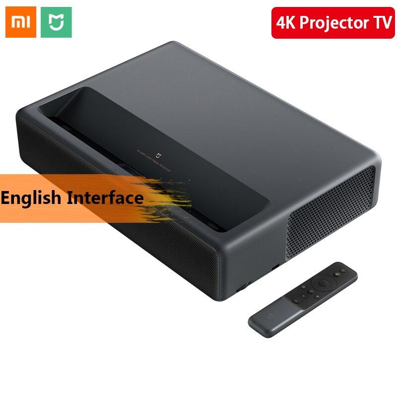 Original 2019 Xiaomi Mijia proyección láser TV 4 K de cine en casa 200 pulgadas Wifi 2G RAM 16G inglés soporte de interfaz HDR DOLBY DTS