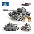 KAZI 82010 1193pcs Building Blocks German military tank Bricks Boy's Christmas Gift playmobil educational toys for children