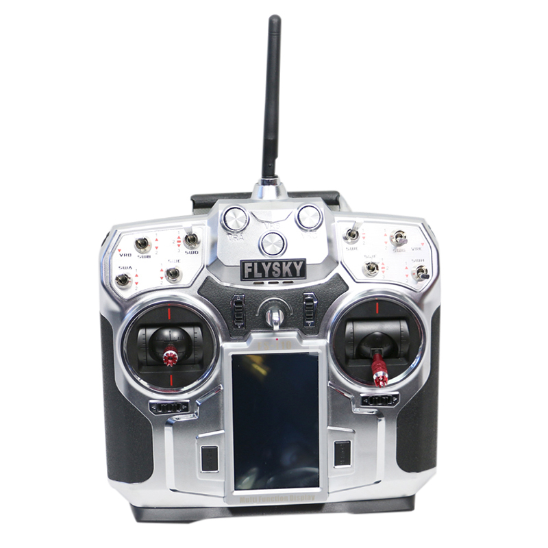 Flysky 2.4GHz 10CH AFHDS2 LCD Radio Transmitter & Receiver for RC niorfnio portable 0 6w fm transmitter mp3 broadcast radio transmitter for car meeting tour guide y4409b