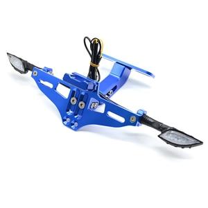 Image 3 - Universale Accessori Moto Targa Staffa Per kawasaki z750 z800 versys 650 er6n ninja 300 400 zx6r parti zxr750