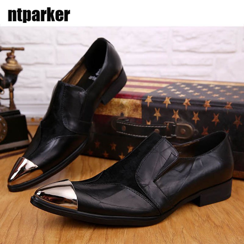 ntparker Limited Edition Soft Leather Man's Shoes Leather Flats Leather Dress Shoes Man Pinted Steel Toe Business Flats new mf8 eitan s star icosaix radiolarian puzzle magic cube black and primary limited edition very challenging welcome to buy