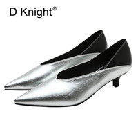 Retro Pointed Pumps Women Shoes Sexy Deep V Mouth Office Lady Work Shoes Spring Korean Patent Leather Stiletto Heels Shoes Woman