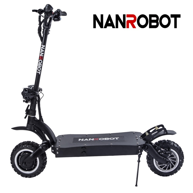 NANROBOT LS7 Powerful 11'' LG <font><b>60V</b></font> 35AH 3600W Motor Allow Top Speed 52 MPH and 56 Miles Adult <font><b>Electric</b></font> 2 Wheel kick e <font><b>Scooter</b></font> image
