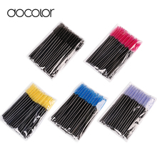 Docolor 50pcs/lot make up brush Pink synthetic fiber One-Off Disposable Eyelash Brush Mascara Applicator Wand Brush best deal