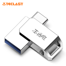 Teclast USB Flash Drive 64GB Three.zero pen drive USB type-c Twin Reminiscence Stick Metallic U Disk 64gb For Android Samsung galaxy a3 s8 s9