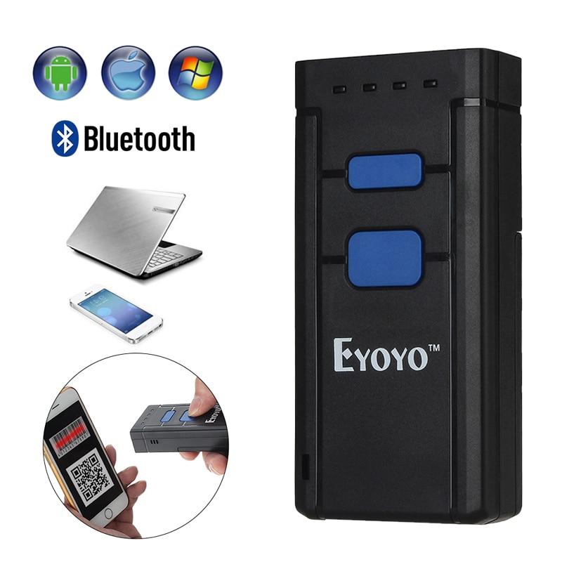 Mini Portable Bluetooth CCD 1D Barcode Scanner Wireless Bar Code Scanner Pocket 1D Code Decoder Android Mobile Scanner Reader