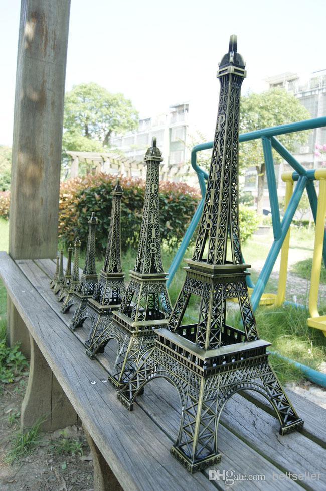 "6/"" gold eiffel tower statue paris wedding decor"