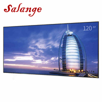 Salange Projector Screen 1.6x3.2m Reflective Fabric Cloth Projection Screen For Sony Benq XGIMI JMGO LED Projector home theater