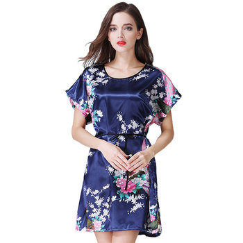 Ladies Simulation Silk Sleepwear Ladies Sexy Satin Women Homewear Sleepwear Sleeveless Round Neck Nighties Summer New Product Sleep Tops