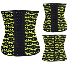 2015 NEW batman Waist Workout Cincher Underbust Corset Steel Boned Body Shaper Shapewear latex rubber Corset XS-3XL Women girl
