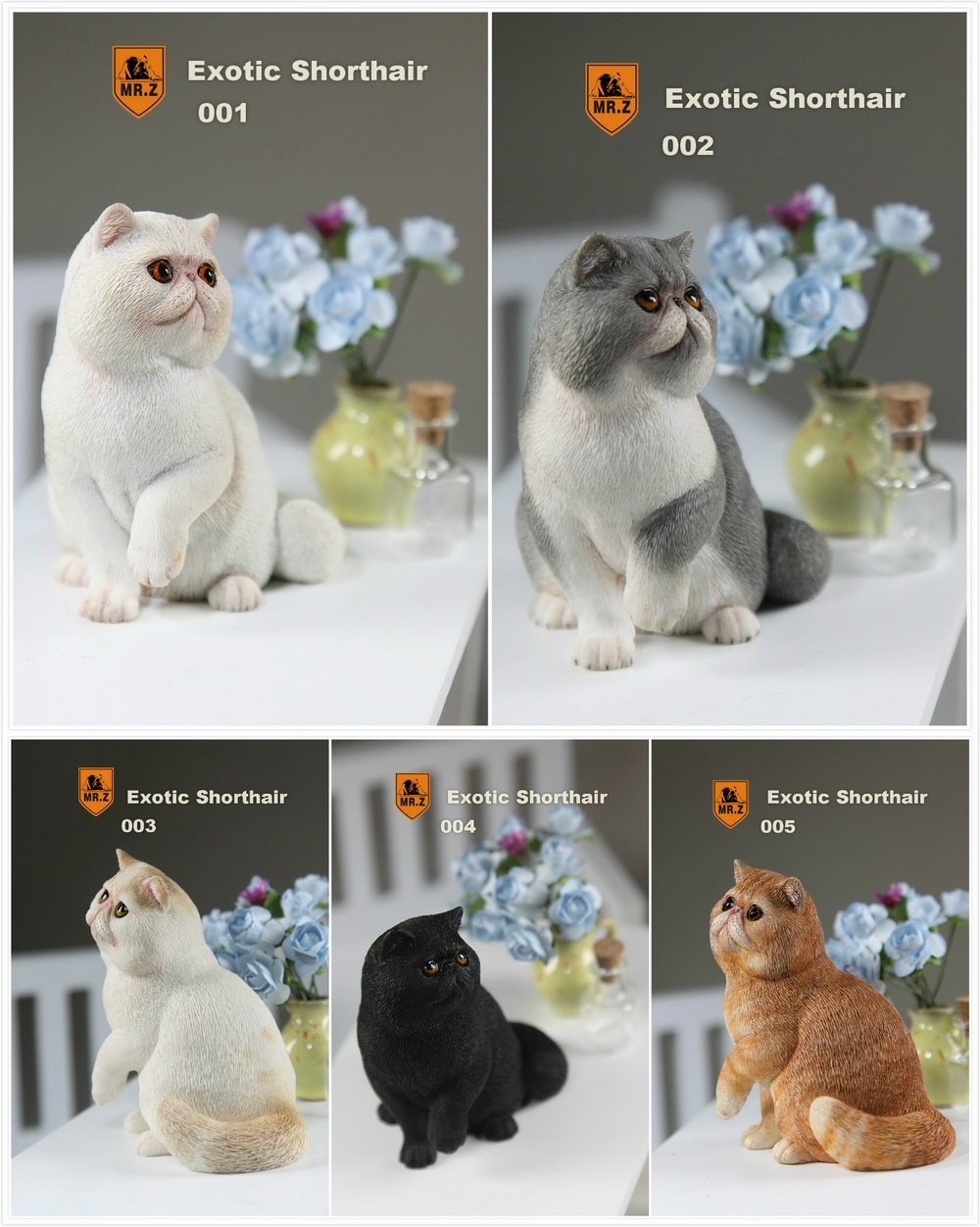 ФОТО  Real Animal Series No.8 1/6TH Scale Exotic Shorthair Cat (Garfield) Statue 4 Colors Collections