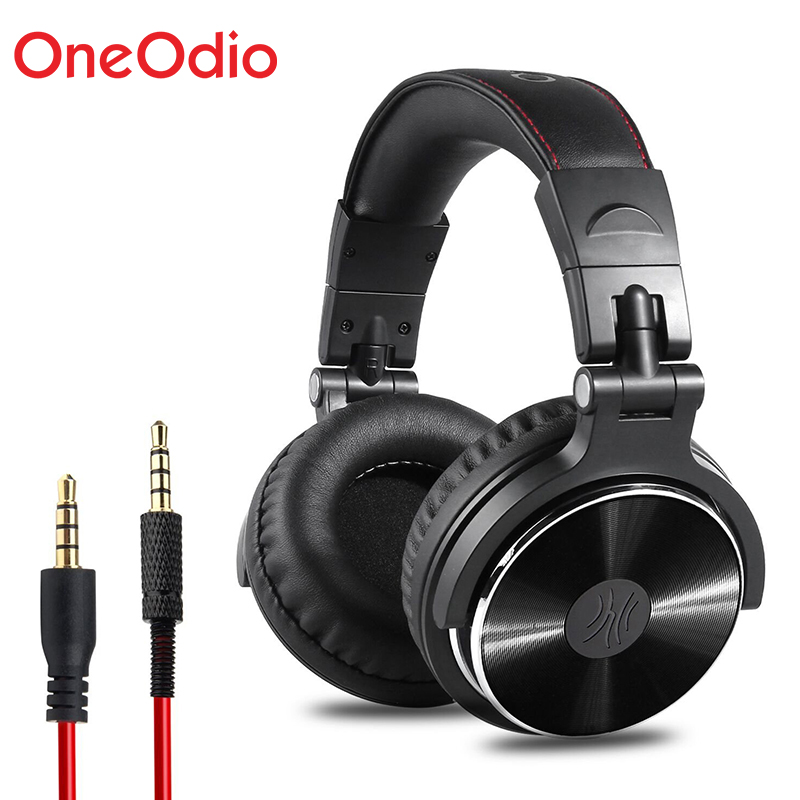 Oneodio Gaming Headset Professional Studio DJ Headphones Hifi Bass Stereo Wired 3.5mm 6.3mm Headphones For Games With Microphone oneodio dj headset earphone with microphone pc wired over ear hifi studio dj headphone professional stereo monitor urbanfun