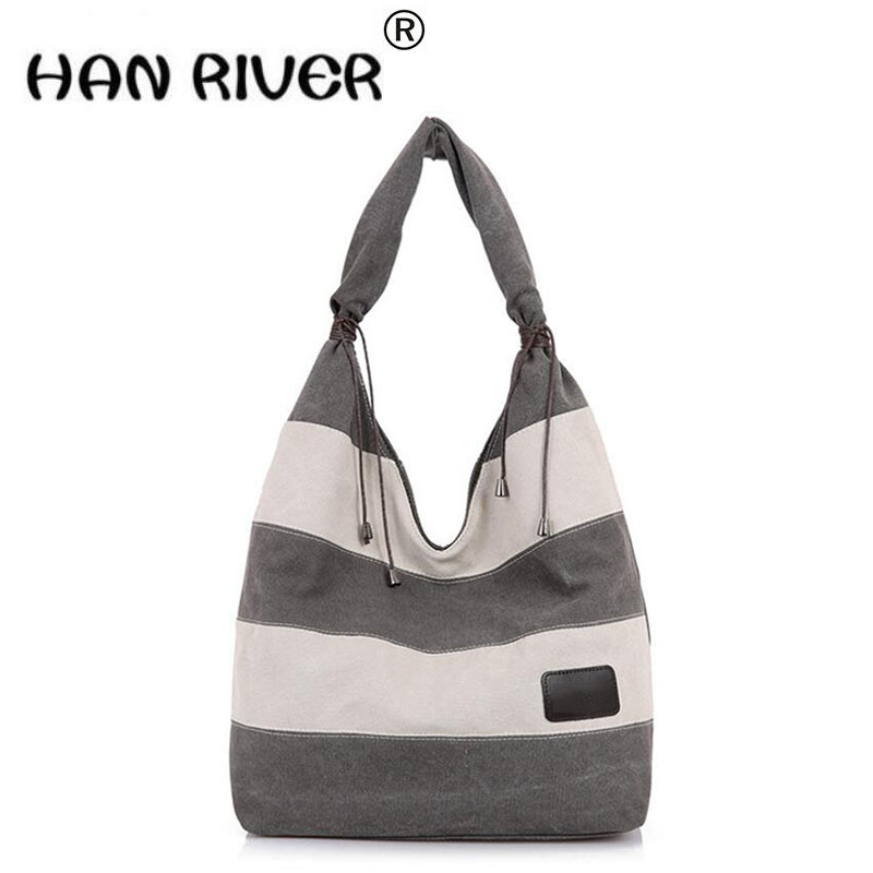 2017 new fashion Casual Summer Canvas Shopper Shoulder Bag Striped Beach Bags Large Capacity Tote Women Ladies Shopping Handbag 2018 new canvas shoes spring summer women shoes genuine leather canvas shoes female round toe flat shoes lace up female canvas s