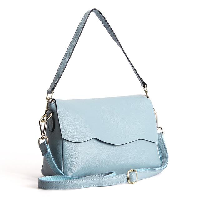 2017 Hot Sell Genuine Leather Ruffles Women Handbag Fashion Ladies Shoulder Messenger Bags Satchel Clutch Tote Bag Sac a Main