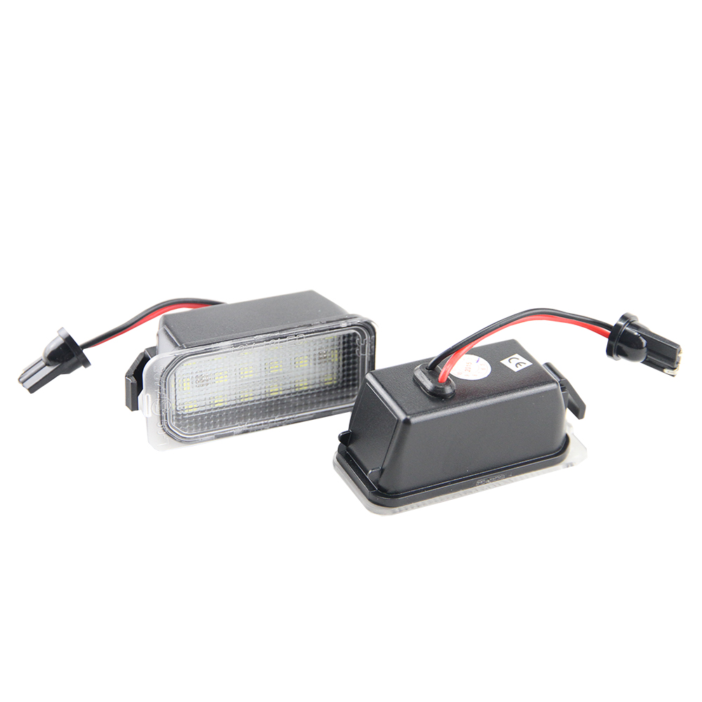 2x Error Free led rear license plate light For Ford Fiesta JA8 Focus DA3 Focus DYB S-max C-max Mondeo Kuga auto lamp Car styling 1pair license number plate light 18led lamps replace for ford mondeo focus 5d canbus d2tb