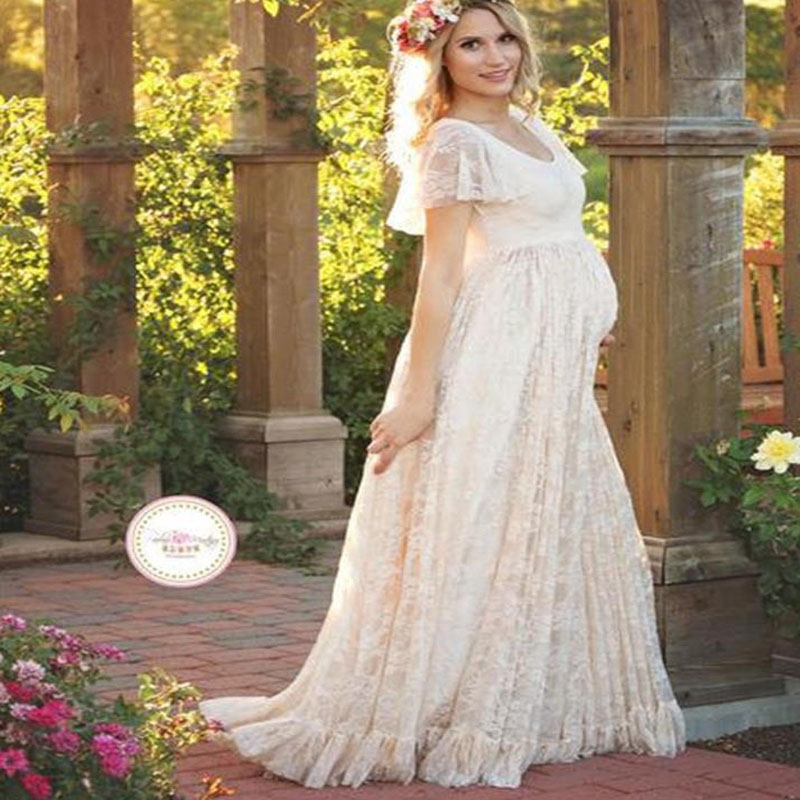 maternity photo shoot dress photography pregnancy white lace clothes evening dress for photo shoots props gown elegant clothes недорого