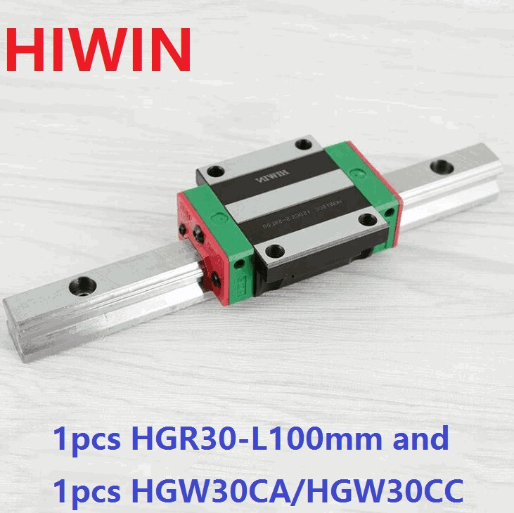 все цены на 1pcs 100% original Hiwin linear rail linear guide HGR30 -L 100mm + 1pcs HGW30CA HGW30CC flange carriage flanged block for cnc онлайн