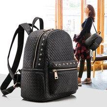 Производители, продающие 2015 новый рюкзак женский Корейский женской моды рюкзак сумка 168-8 заклепки