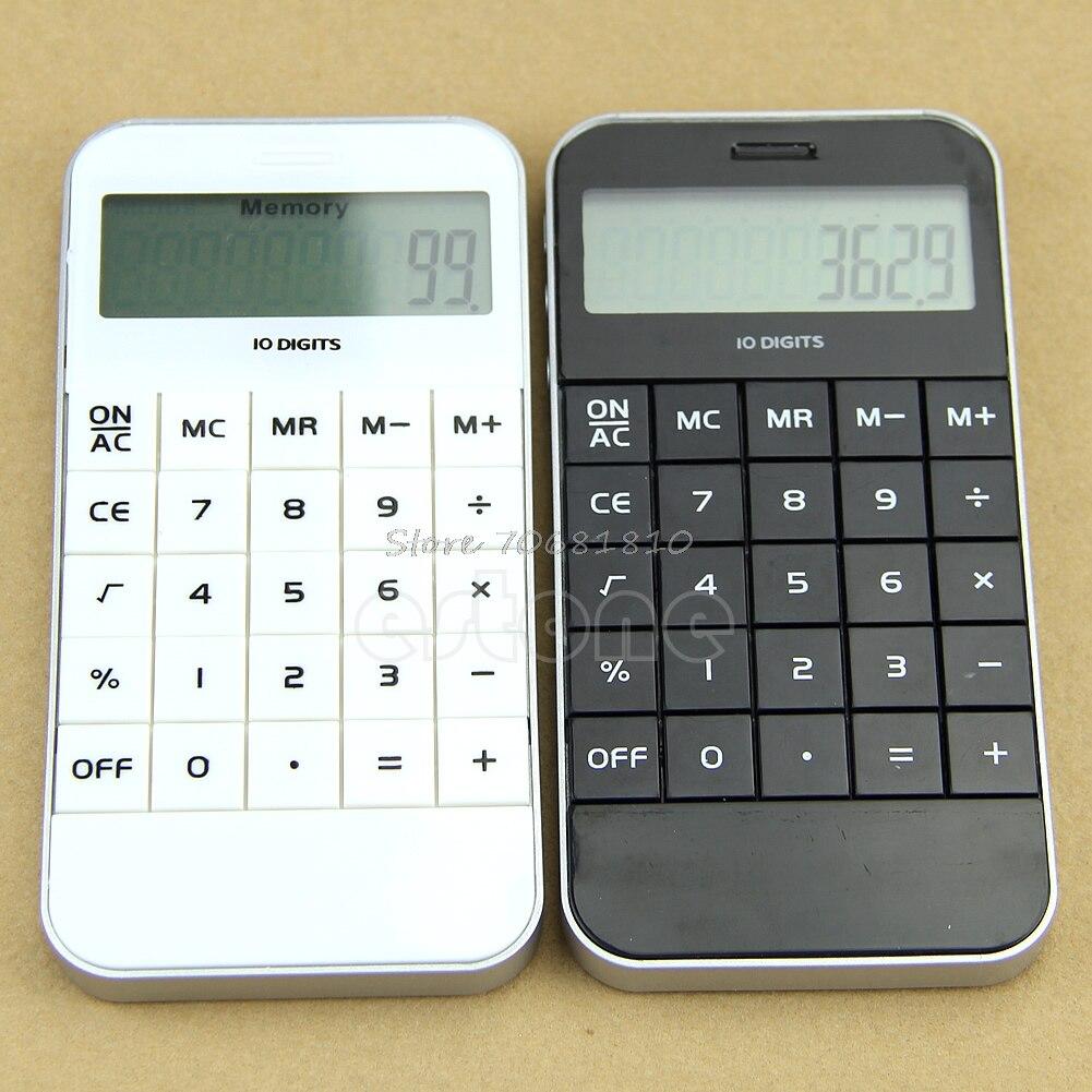 10 dígitos exibir bolso calculadora de cálculo eletrônico transporte da gota