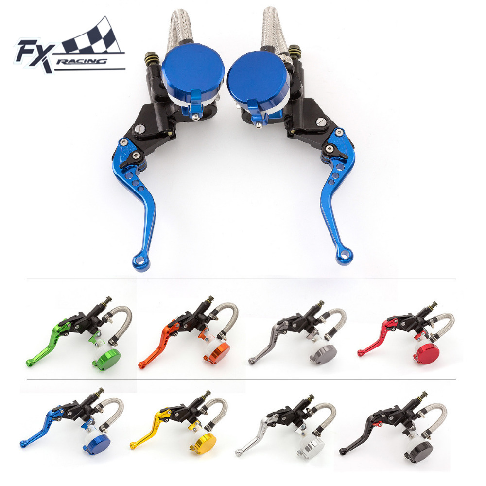 FX CNC Motorcycle Hydraulic Brake Clutch Master Cylinder Levers 125CC - 600CC For Yamaha XJR1300 99 - 03 XJR1200 95 - 97 XJR for yamaha supertenere xt1200ze fjr 1300 xjr 1300 racer cnc adjustable levers brake clutch levers blade motorcycle accessory