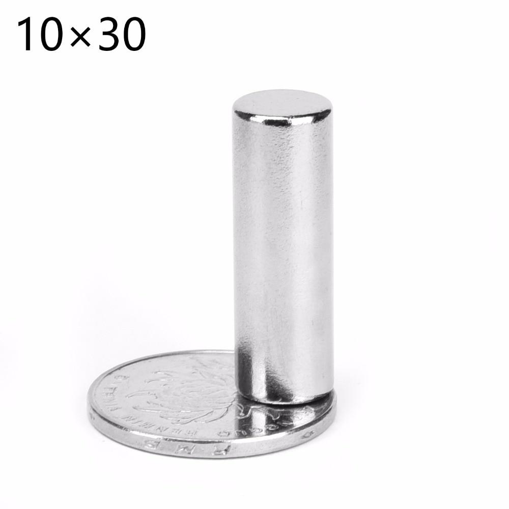 50pcs10x30 magnet 10x30mm Super strong sticking neo neodymium D10x30 magnets N52 D10x30mm 10 30 permanent magnet