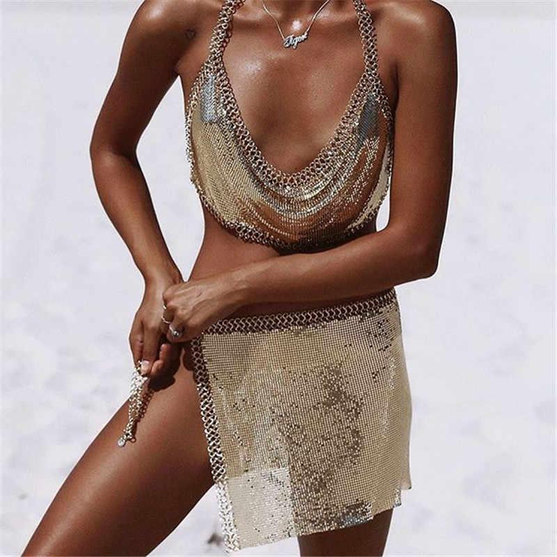 Сексуальное простое нижнее белье женская летняя пляжная цепь на тело