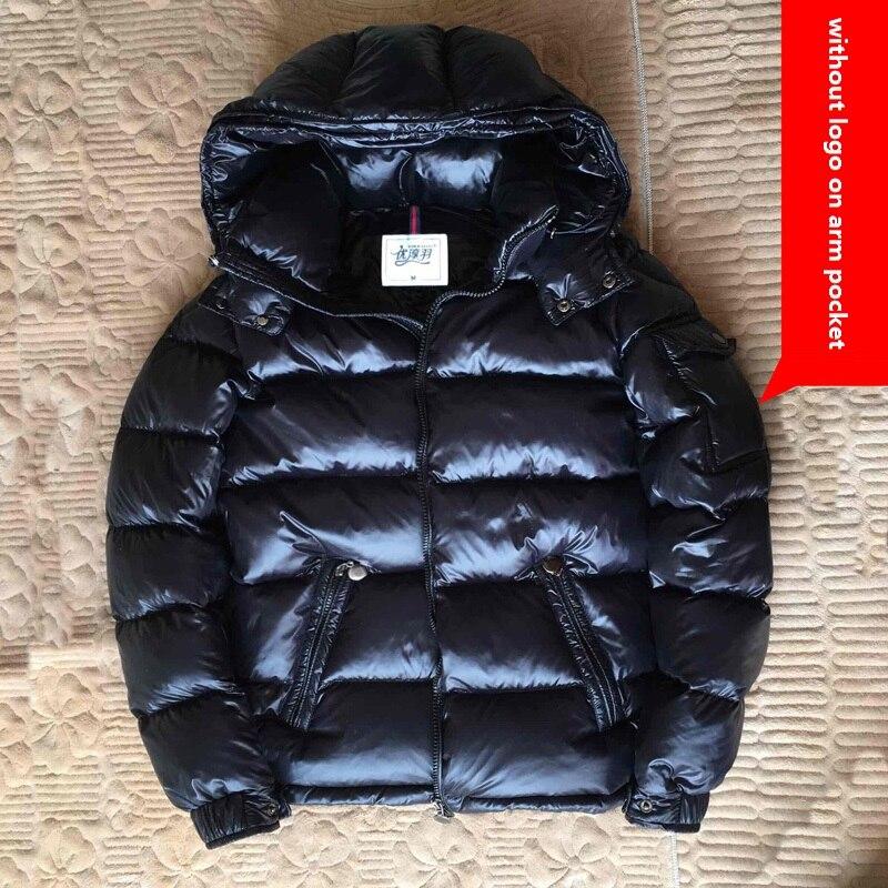 الشتاء أسفل معطف الذكور سميكة قصيرة الكلاسيكية الرجال أسفل سترة زائد المخملية الحرارية سميكة الأبيض بطة أسفل أسود أحمر 4XL 3XL 2XL XL L M-في جواكت قصيرة من ملابس الرجال على  مجموعة 1