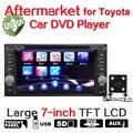 """7 """"1,5-дюймовый ЖК Bluetooth Car Radio DVD CD Mp5-плеер Поддержка Сенсорного Экрана TFT AM FM Приемник SD USB Для Toyota + Камера Заднего вида"""