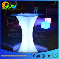 LED Bar Table Plastic Luminous Furniture Cylinder Cocktail Drinking Table For Living Room Dining Room Garden Club Party