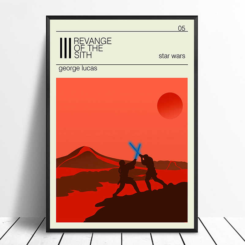 Attack Of The Clones Poster Star Wars Minimalist Vintage Movie Poster Home Decor Wall Decor Wall Art Canvas Painting Aliexpress