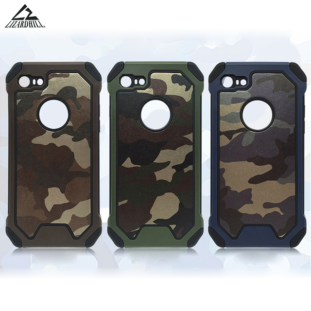 reputable site 13a59 fc531 US $3.1 20% OFF|Lizardhill Army Camo Camouflage back covers Armor  protective phone cases for iPhone 5s 6 s 6s 7 8 plus coque for apple iphone  x-in ...