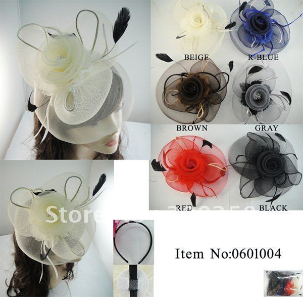 Free shipping  Colorful Charm Royal Hats/Veil Fascinator cocktail hat fascinator top hats 12pcs/lot