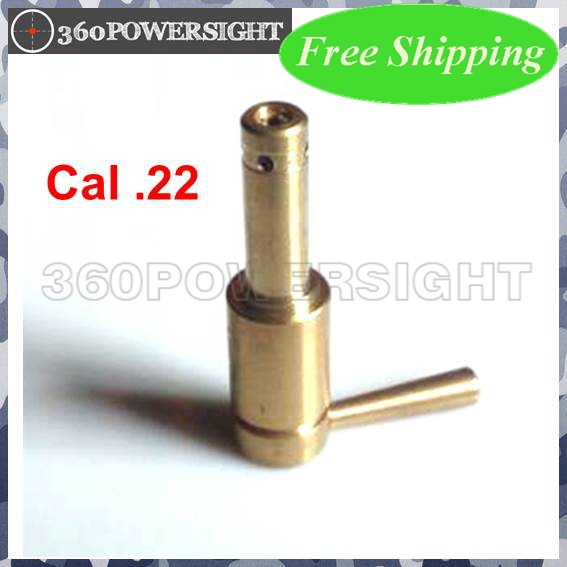 Boresights Cal.22 100% brass and gold-plated Red Dot