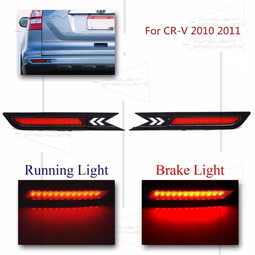 Logo honda rouge - Pour Honda Cr V Aftermarkt Led Remplacer Pare Chocs Arri Re R Flecteur Lumi Res Rouge 2010